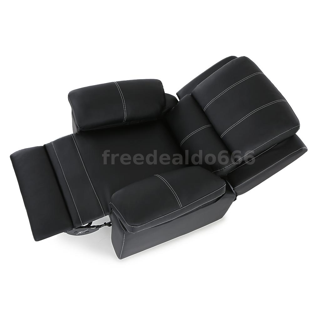 black leather recliner gaming chair black leather cinema electric massage rocking swivel 11227 | H16890US 1 d68d pSlD